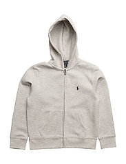 DOUBLE KNIT TECH-LS FZ HOOD-TP-KNT - LT SPORT HEATHER