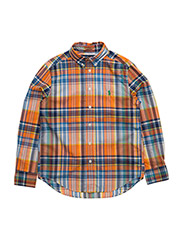 LS BD-TOPS-SHIRT - ORANGE MULTI