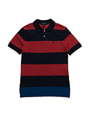 SSL STRIPE POLO PP - CASINO RED MULT