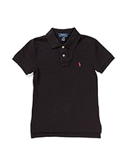 SS CUSTOM FIT POLO - POLO BLACK