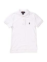 Custom Fit Cotton Mesh Polo - WHITE