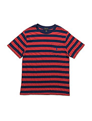 Striped Cotton Pocket Tee - STARBOARD RED M