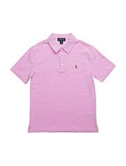 Knit Cotton Oxford Polo - METRO PINK