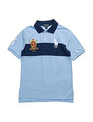 Cotton Mesh Polo Shirt - AUSTIN BLUE/DEE