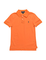 Custom-Fit Weathered Mesh Polo - MAY ORANGE