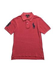 Cotton Mesh Polo Shirt - SUNRISE RED