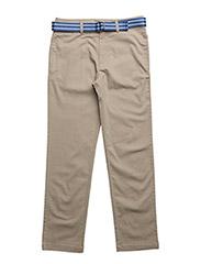 Belted Stretch Cotton Chino - COASTAL BEIGE