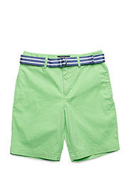Belted Stretch Cotton Short - OASIS GREEN