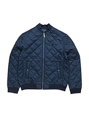 Quilted Baseball Jacket - SPRING NAVY