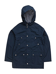 WATER-RESISTANT COTTON JACKET - SPRING NAVY