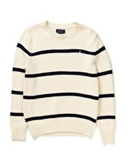 LS CN SWEATER - CRESCENT CREAM