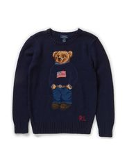 LS BEAR CN SWEATER - NAVY