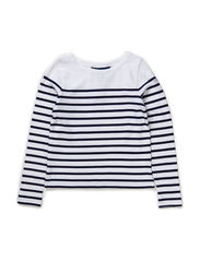 LSL  STRIPE TOP  PATCH - WHITE MULTI