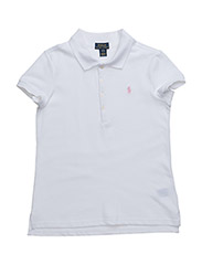 SHORT SLEEVE MESH POLO - WHITE