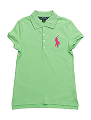 Big Pony Stretch Mesh Polo - CRUISE LIME
