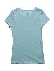 Pima Cotton–Blend Crewneck Tee - DUSTY TURQUOISE