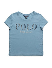 Polo Cotton Jersey Graphic Tee - BOLIVIAN BLUE