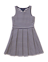 SLS PLEATED DRES - NEWPORT NAVY MU