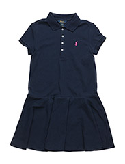 SHORT-SLEEVE POLO DRESS - FRENCH NAVY