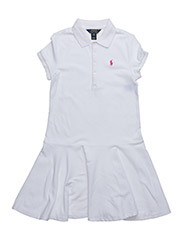 SHORT-SLEEVE POLO DRESS - WHITE