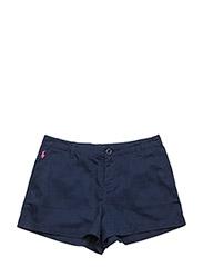Cotton Chino Shorts - CRUISE NAVY