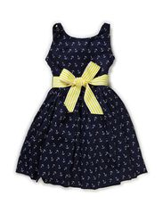 SLS  ANCHOR DRESS - NAVY MULTI