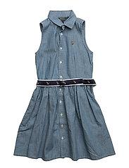Cotton Chambray Shirtdress - INDIGO