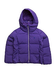 HOODED QUILTED JACKET - VIBRANT PURPLE