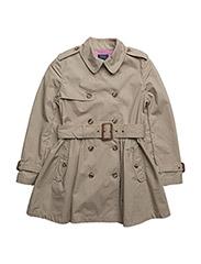 Cotton Poplin Trench Coat - CLASSIC KHAKI