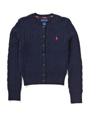 LS SHRUNKEN FIT CARDIGAN - HUNTER NAVY