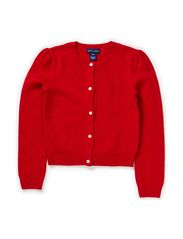 LS DRESSY CARDIGAN - JEWEL RED