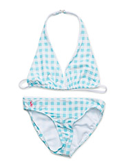 Gingham Two-Piece Swimsuit - NORTHSHORE BLUE