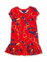 SS EQUESTRIAN DRESS - RED MULTI