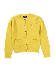 LS CN CARDIGAN W/POCKETS - FALL YELLOW