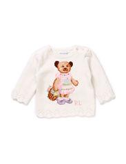 LSL GIRL BEAR PRINT - WARM WHITE