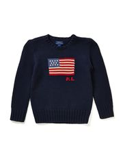 CN PO WITH FLAG INTARSIA - HUNTER NAVY