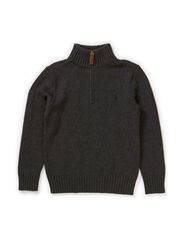 LS HZ MOCK NECK PO - DARK GREY