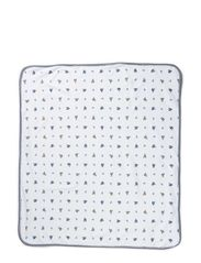 BEAR RECEIVING BLANKET - WHITE MULTI W F
