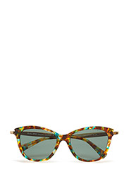 ESSENTIALS   EXTENDED TEMPLE - TEAL TORTOISE/GOLD-GREEN SOLID