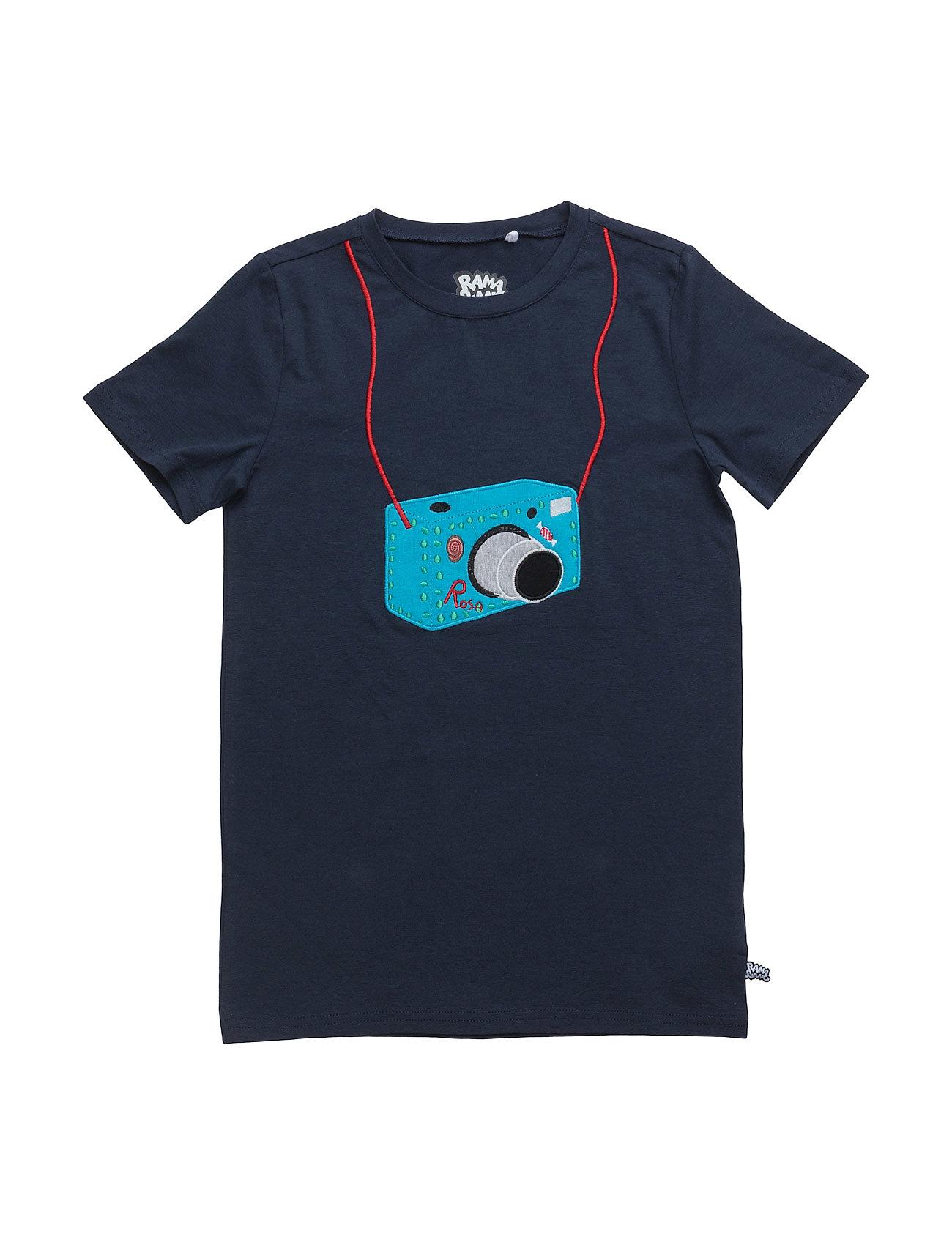 Rosa Spion Kamera T Ramasjang Kluns by Green Cotton T-shirts til Drenge i Navy blå