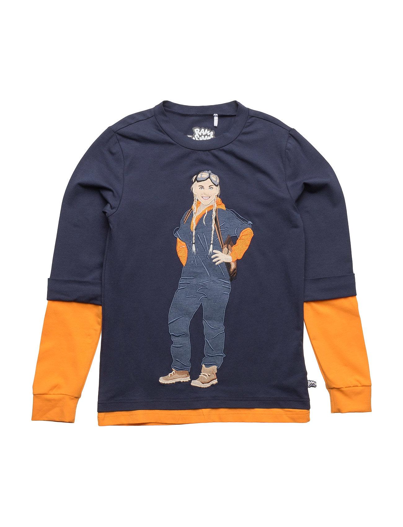 Motor Mille Lag T Ramasjang Kluns by Green Cotton Langærmede t-shirts til Børn i Navy blå