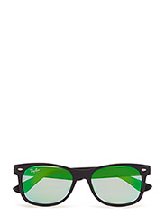 NEW WAYFARER JUNIOR - MATTE BLACK-LIGHT GREEN MIRROR GREEN