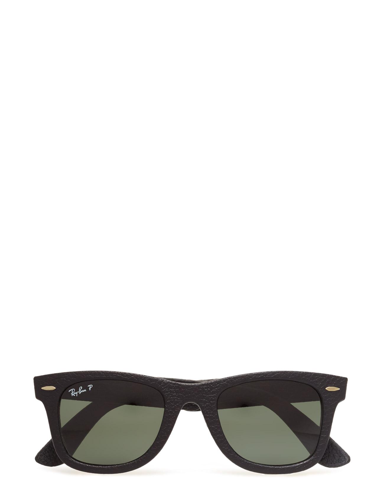 Wayfarer Leather Ray-Ban Solbriller til Herrer i