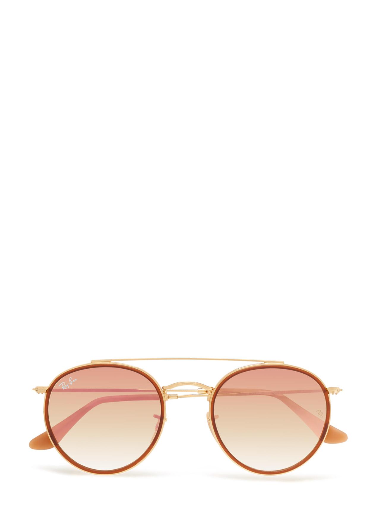 Round Frame Ray-Ban Solbriller til Herrer i Sort