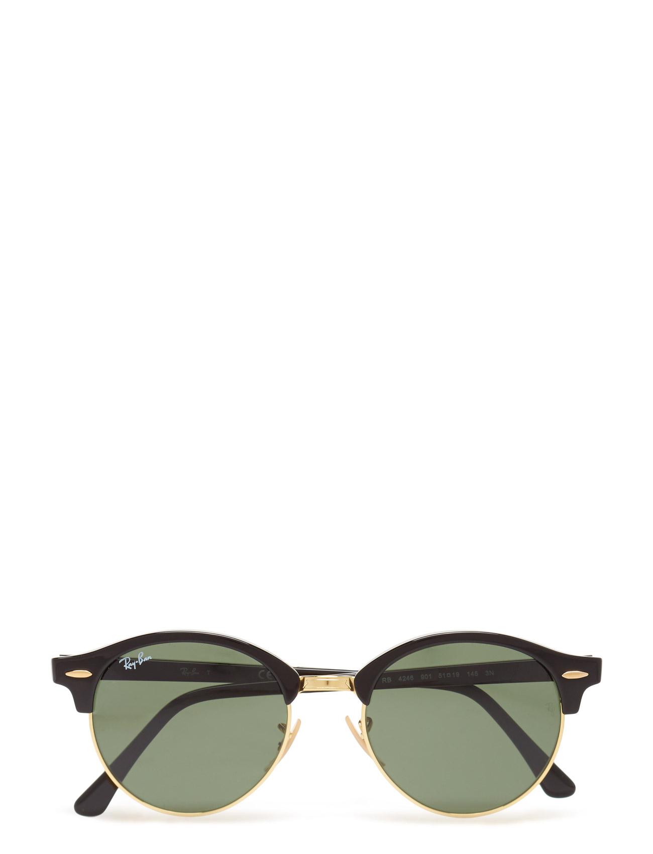 Clubround Ray-Ban Solbriller til Herrer i Sort