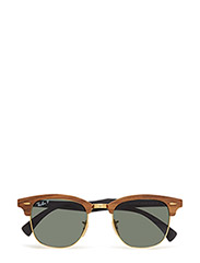 CLUBMASTER (M) - WALNUT RUBBER BLACK-POLAR GREEN