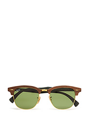 CLUBMASTER (M) - WALNUT RUBBER GREEN-GREEN