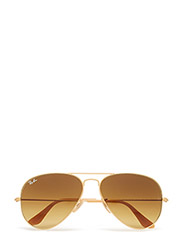 AVIATOR LARGE METAL - MATTE GOLD-BROWN GRADIENTT