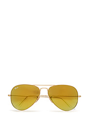AVIATOR LARGE METAL - MATTE GOLD-BROWN MIRROR GOLD