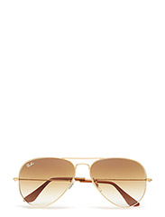 AVIATOR LARGE METAL - GOLD-CRYSTAL BROWN GRADIENT